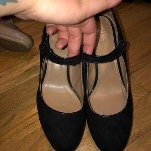 Merona black Mary Jane heels
